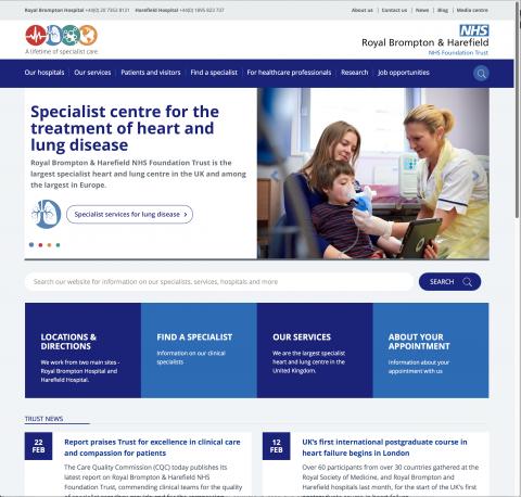 Royal Brompton & Harefield NHS Foundation Trust's websites